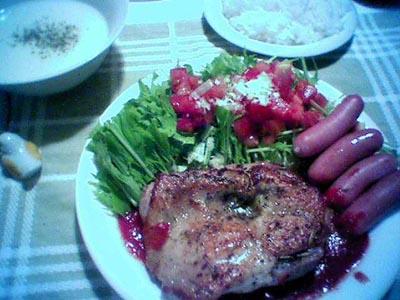 夕食メニュー20050811_ganbatte-ferrari