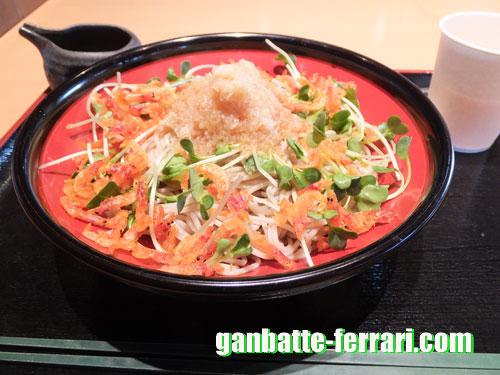 羽生PAで食べたお蕎麦_ganbatte-ferrari