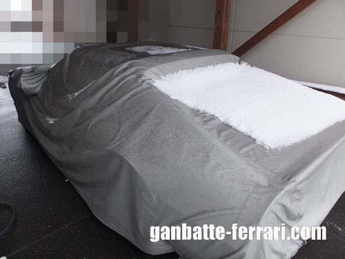 フェラーリ雪_ganbatte-ferrari
